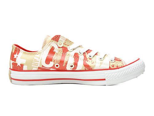 中性潮牌all star系列蜡感手绘字母立体感低帮系带帆布鞋-131368c