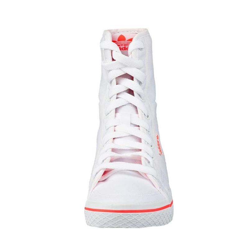 adidas 阿迪达斯高帮板鞋女鞋2013夏三叶草帆布鞋q23292